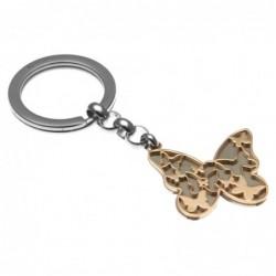 portachiavi donna con farfalla in acciaio