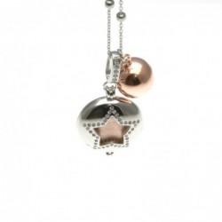 Chiama angeli collana in bronzo con simbolo stella