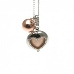 Chiama angeli collana in bronzo con simbolo cuore
