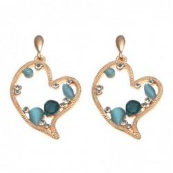 orecchini donna a cuore in bronzo pendenti a vite