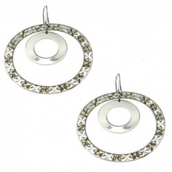 orecchini donna a cerchio grandi in bronzo
