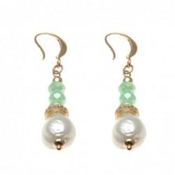 orecchini donna pendenti con perle e pietre