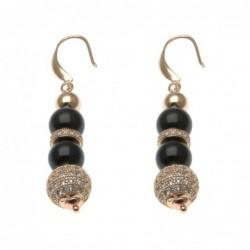 orecchini donna pendenti in pietre dure e sfera di strass