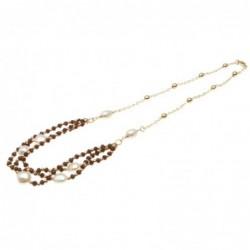 collana donna girocollo con pietre e perle