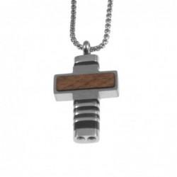 ciondolo croce uomo pendente in acciaio