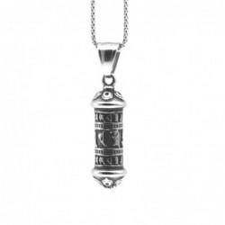 collana con cilindro in stile massone acciaio