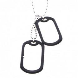 piastra militare doppia collana  in acciaio