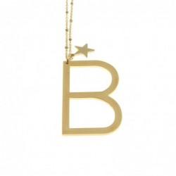 Collana con lettera b iniziale donna acciaio