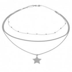 collana donna con stellina in acciaio