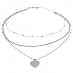 collana donna con cuore in acciaio