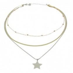 collana donna con stella in acciaio