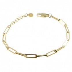 bracciale donna catena in acciaio dorato