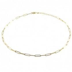 collana donna catena in acciaio dorata